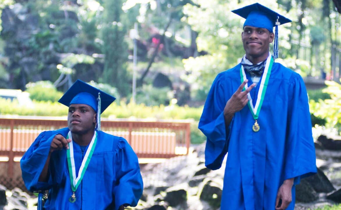 2 man on their graduation
