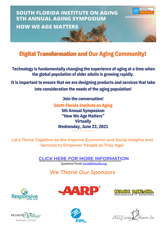 Join the 5th Annual Aging Symposium